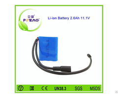 Wholesale Price 12v 2600mah Enduring Lithium Ion Battery Pack