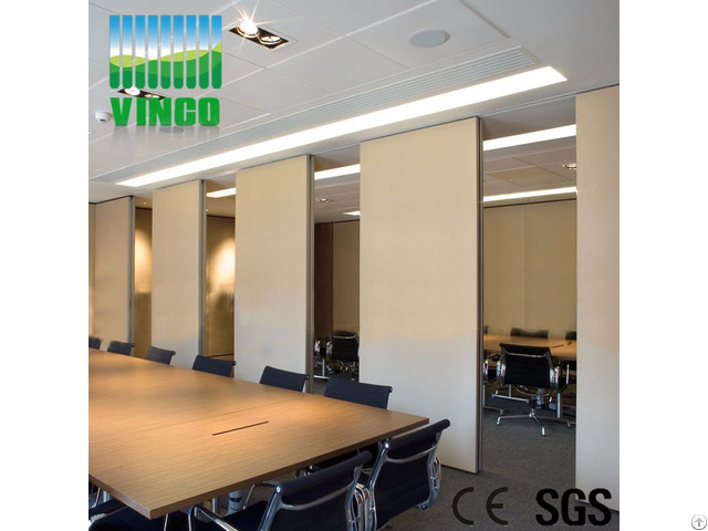 Aluminium And Operable Partitions Wall Acoustic Movable Office Partition For Hotel