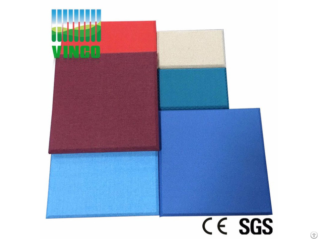 Sound System Theater Glass Wool Acoustic Panel For Interior Decoration