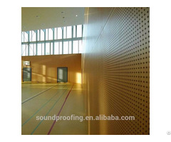 Acoustic Wood Panels Perforated Pattern For Office