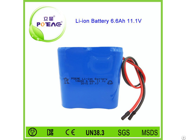 Deep Cycle 12v 6600mah Lithium Ion Cylindrical Battery 18650