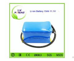 Power Safe Rechargeable 18650 Li Ion Battery 12v 13ah