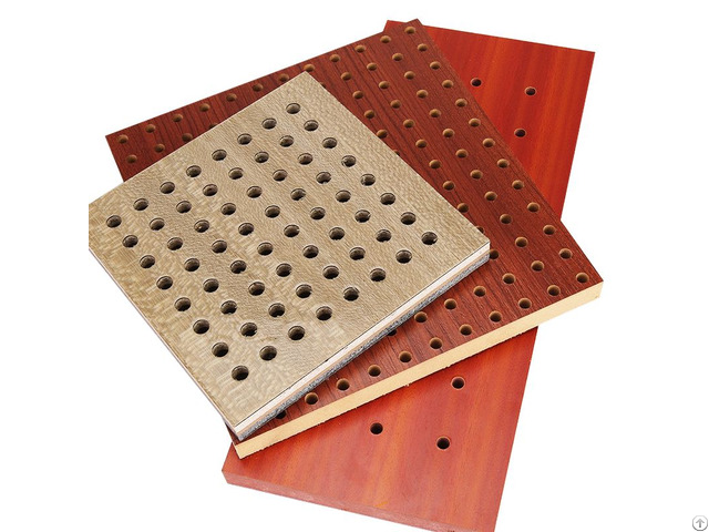 Perforated Wooden For Audiometric Boot Acoustic Panels Wood Recording Studio Equipment