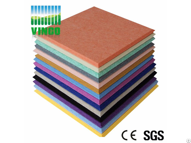 Beautiful Printing Fireproofing Sound Absorbing Polyester Fiber Acoustic Panel