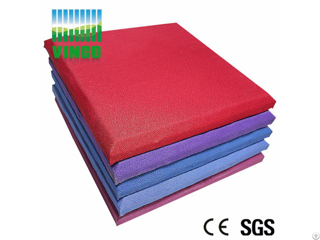 High Quality Fireproof Eco Friendly Fabric Acoustic Panels