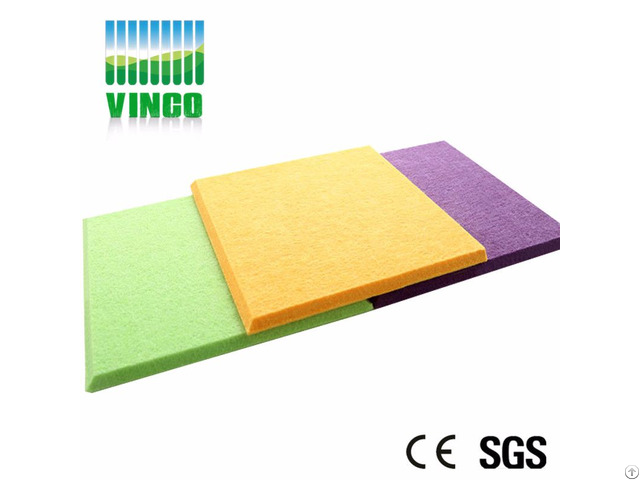 Decorative Polyester Fiber Panel Wall Coating Panels With Embossed Deisgn