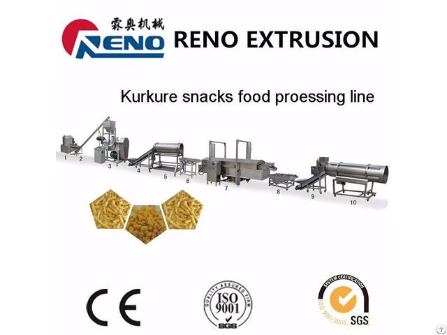 Kurkure Plant Nik Naks Machinery Output 150kg Hour