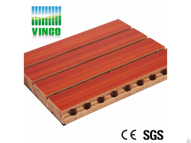 Grooved Acoustic Wood Panelling Sound Absorbing Panel For Walls Ceiling