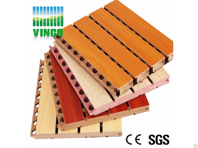 Beautiful Grooved Perforated Wool Decorative Sound Insulation Interior Wall Board With High Quality
