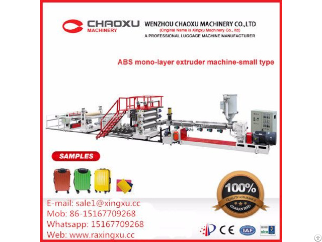 Abs Single Layer Plastic Extrusion Machine For Luggage Smaller Type