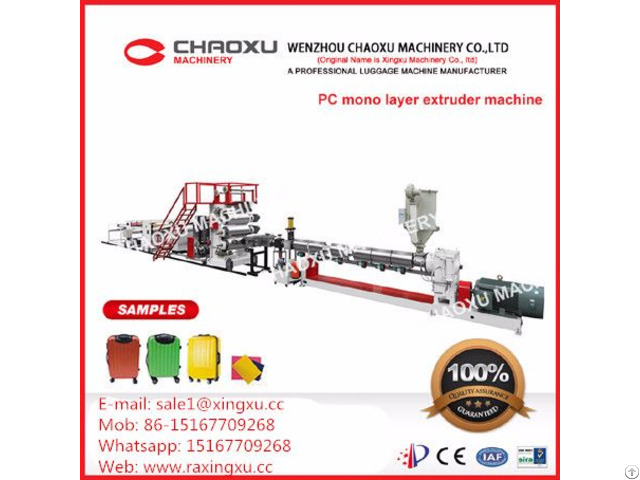 Mono Screw Pc Plastic Sheet Extrusion Machine Yx 21p