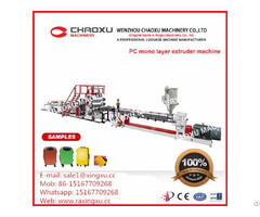 Mono Screw Pc Plastic Sheet Extrusion Machine Yx 21p