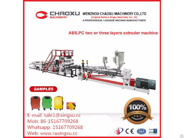Abs Pc Automatic Production Line Plastic Extrusion Machine For Luggage