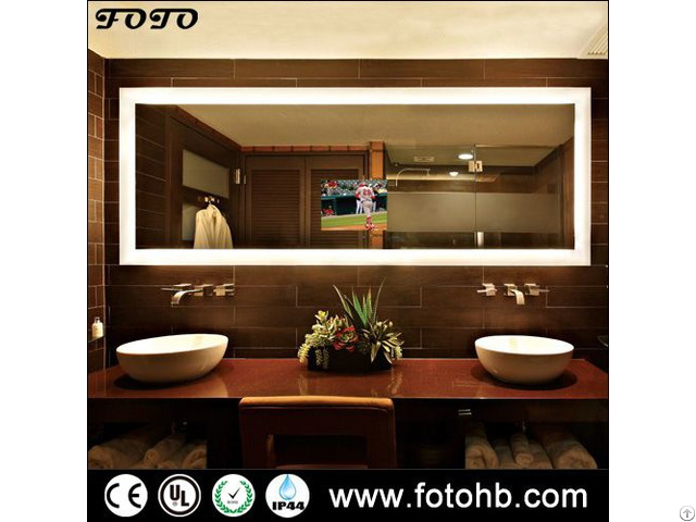 Tv Mirror With Led Backlit Lights