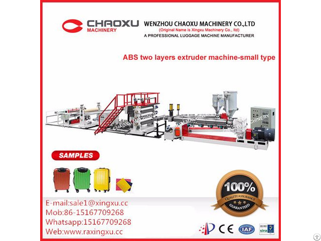 Abs Two Layers Plastic Sheet Plate Extruder Production Line Machine Smaller Type