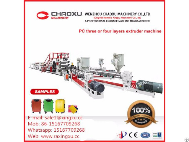 Hight Quality Pc Three Or Four Layers Plastic Sheet Extrusion Machine For Luggage
