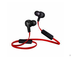 Sweatproof Bluetooth Noise Cancelling Photo Taking Earphones With Mic For Sports