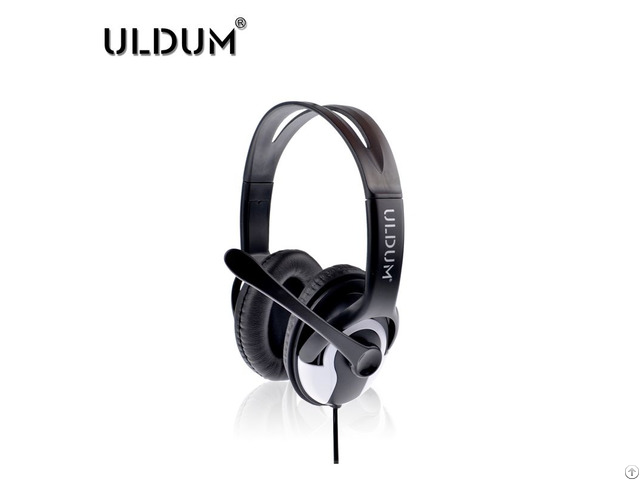 New Products Black Uldum Brand Headsets Best Stereo Headphones With Mic