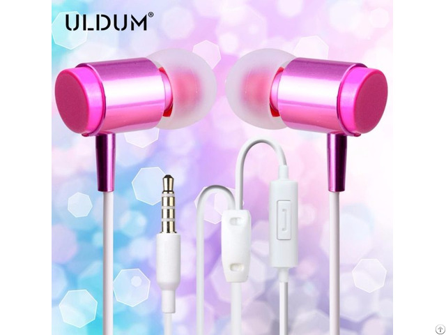 Uldum New Fashion Girl Lipstick Disposable Bus Classic Earphone For Mobile Phone Mp3 Media Player