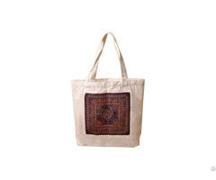 Custom Printed Natural Cotton Canvas Reusalbe Shopping Tote Bag