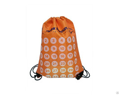 Polyester Drawstring Dports Backpack Gym Bag