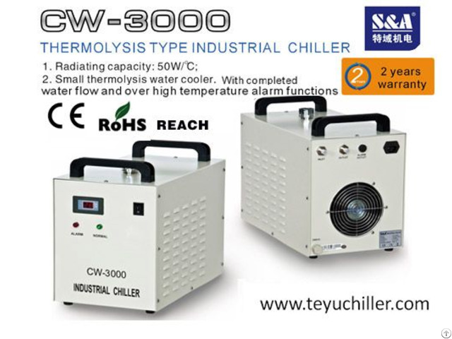 S And A Cw 3000 Water Cooler For 80w Co2 Laser Tube