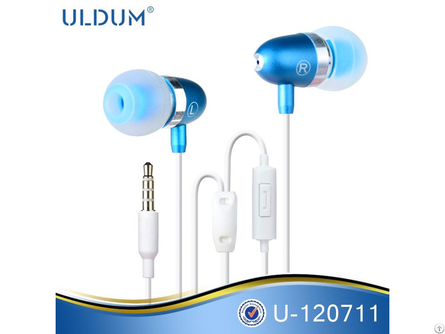 Metal Earphone Bullet Head Shaped Stylish Super Bass Sound Earbuds With Mic For Mp3 Smartphone