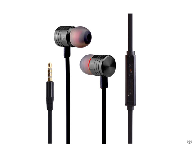 Mobiles Accessories Super Bass Metal Earphones Earbuds With Volume Control