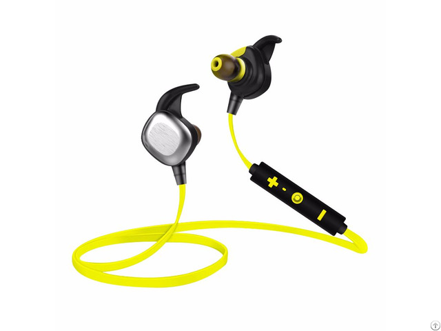 Sports Wireless Bluetooth Headset Earphone With Mic Tpe Material