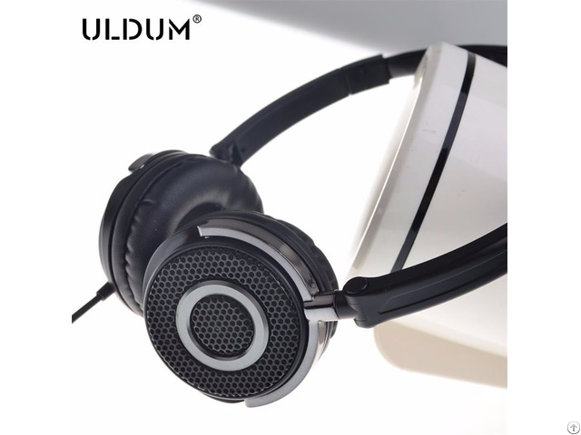 Wired Metal Grid Deep Sound Bass Headset Headphone With Mic