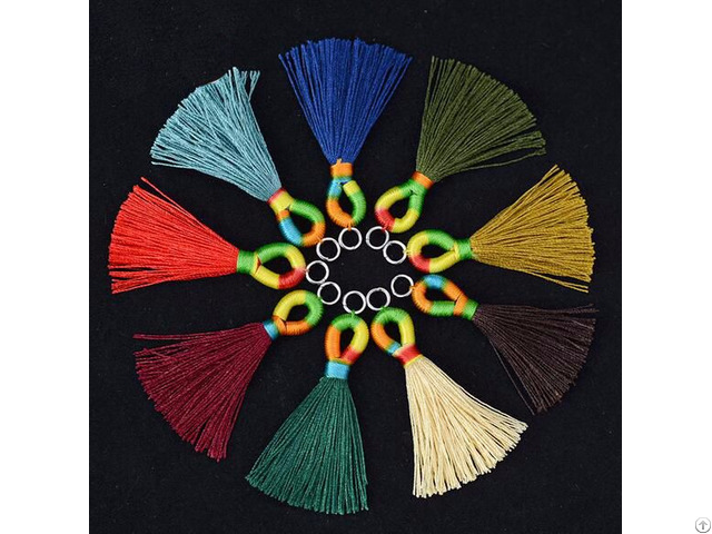 Colorful Winding Earring Tassels