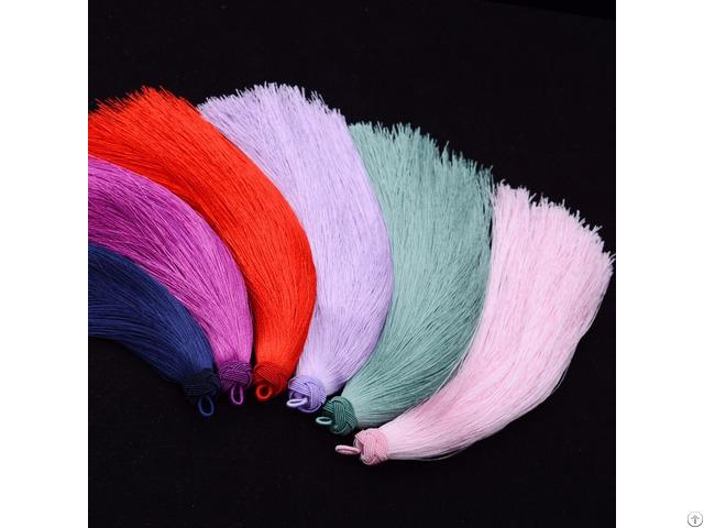 Hand Knitting Colorful Tassel