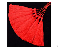 Red Knitting Tassels