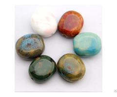 Ceramic Flat Beads