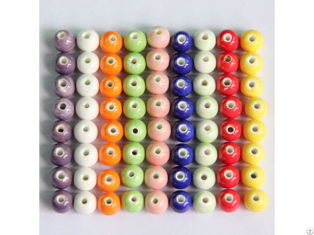 Colorful Ceramic Beads 8mm