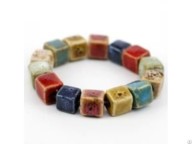 Colorful Ceramic Square Beads