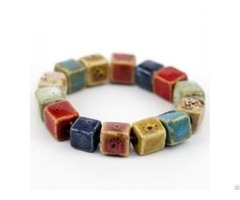 Colorful Ceramic Square Beads