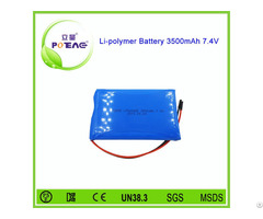 Small Rechargeable 3500mah 7 4v Lithium Polymer Battery Pack