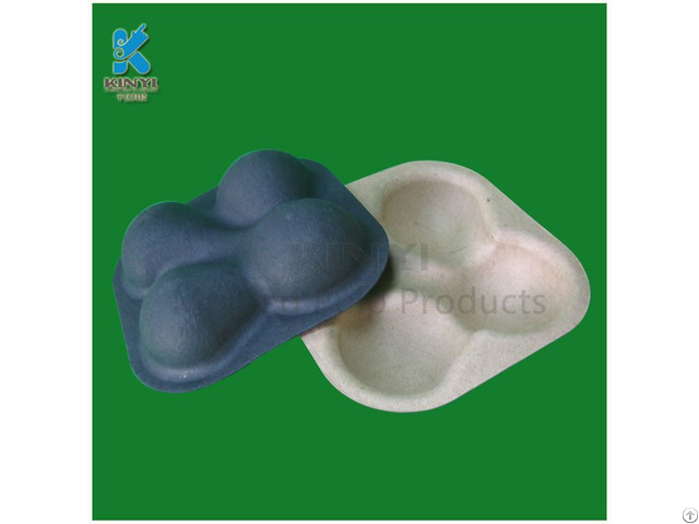 Eco Friendly Molded Pulp Plum Packaging Tray