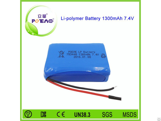 Alibaba China Supplier 783448 1300mah 7 4v Li Polymer Battery
