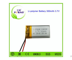 High Rate 502035 Li Polymer Battery 3 7v With 300mah
