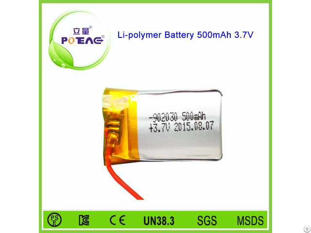 Small Li Ion 902030 3 7v 500mah Lithium Polymer Battery