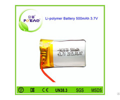 Small Li Ion 902030 3 7v 500mah Lithium Polymer Battery