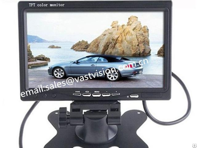 Portable 7 Inch Tft Lcd Monitors With 2 Av Bnc Hdmi Input Optional