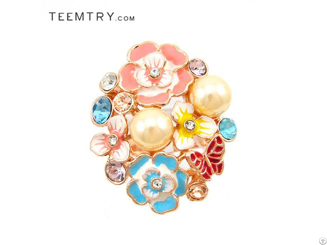 Wholesale Designer Inspired Multi-flora Cocktail Rings Jewelry Teemtry Com
