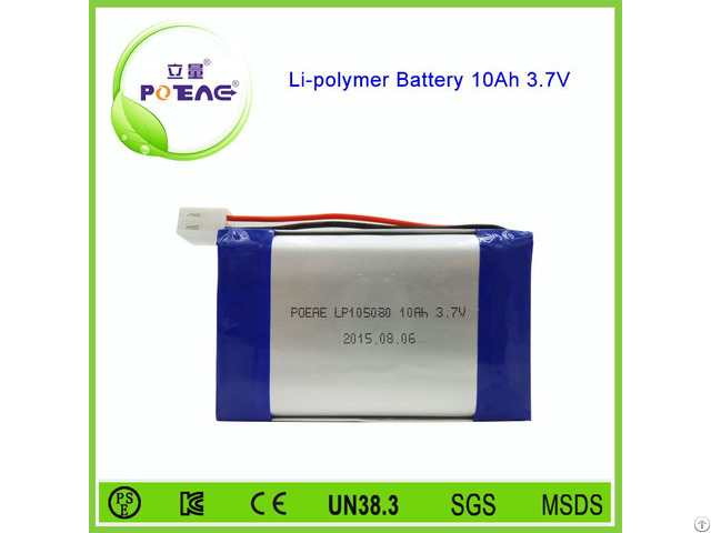 Rechargeable 105080 10000mah 3 7v Lipo Battery Pack
