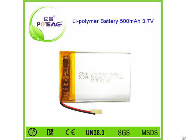 Rechargeable Li Polymer Battery 3 7v 500mah For Digital Products