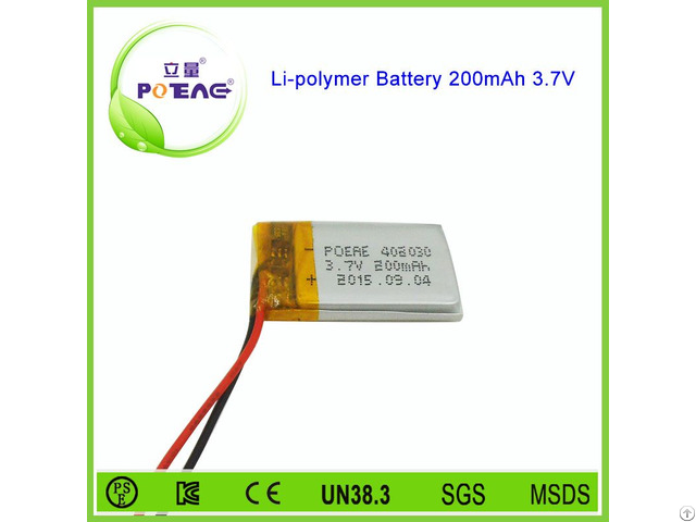 Small Size High Quality Rechargeable 3 7v 200mah Lipo Battery