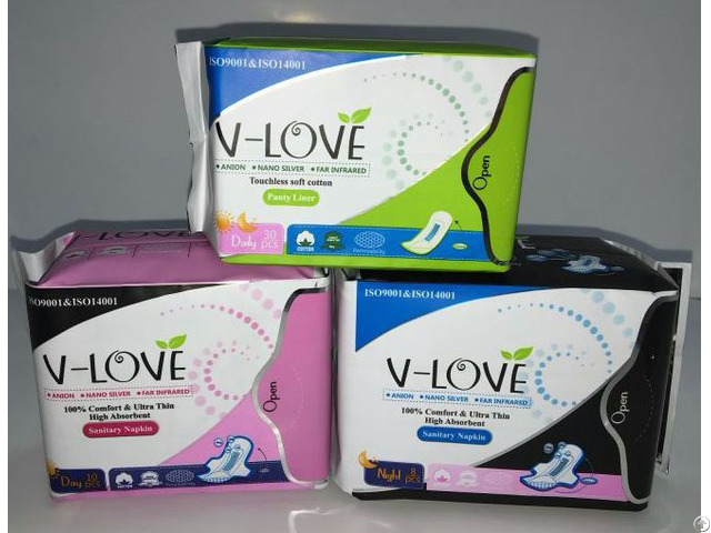 Shenzhen Vlove Super High Quality Anion Sanitary Napkin