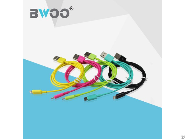 Wholesale Hot Selling Colorful Thin Usb Cable Micro 8pin Charger